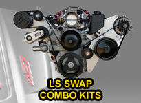 LS conversion swap combo accessory brackets
